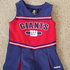 NY Giants Cheerleader Outfit 18 mos